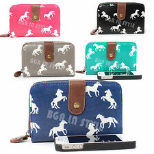 Ladies Designer Oilcloth Dog Print Purse and Wallet Women Girls Coin Purses