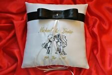 PERSONALISED wedding ring cushion / pillow / embroidered couple/ 86 colors