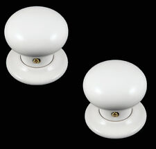 Classic White Porcelain Ceramic Mortice Door Knob Handle Set (pair)