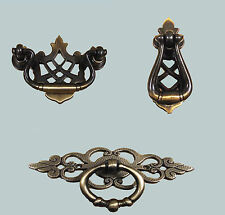 2 x Traditional Antique Brass Vintage Cupboard Cabinet Drawer Door Pull Handles