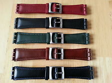 Real Leather Watchband for Swatch, 19mm, 5 colors to choose