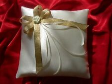 Wedding ring cushion / pillow with rose / 86 colors
