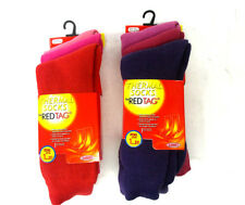 LADIES REDTAG THICK WINTER WARM THERMAL SOCKS 3 IN PACK DIFFERENT COLOURS 41B260