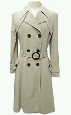 """Ladies Women Trench Mac Flair jacket Double Breasted Long Coat 42"""" inch lenght"""