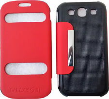 Samsung Galaxy S3 III i9300 Leather Wallet Case Cover Pouch Bookcase - Galaxy S3