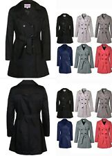 VickySmith Double Breasted Women's Trench Mac Coat Ladies Belted Fashion Jacket
