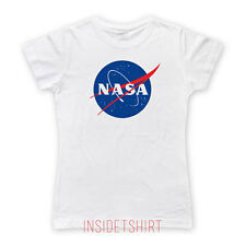 NASA T-SHIRT Space Shuttle International Space Station Apollo Skylab EAZY GIRL