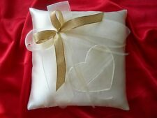 Wedding ring cushion pillow with bow and heart pouch / 86colours!