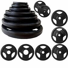 BodyRip TRI GRIP RUBBER ENCASED WEIGHT PLATES 1.25-25KG DISCS EXERCISE GYM