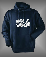 BADA BING - TONY SOPRANOS STRIP CLUB - MENS FUNNY HOODIE SWEATSHIRT