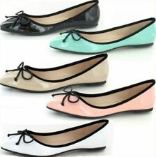 SALE LADIES SPOT ON BALLERINA DOLLY STYLE SHOES WITH BOW F8823 EVERYDAY WEAR