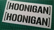 Carbon Fibre Hoonigan Stickers Decals Small Sizes to Large Ken Hooning Block JDM