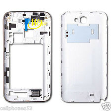 Samsung Galaxy Note 2 N7100  Housing middle White/Titanium cover with free back