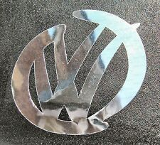 Small - Large VW Swoosh stickers decals Silver Hologram Chrome Carbon Fibre DUB