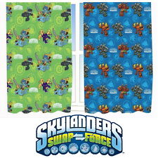 """Skylanders Swap Force 66 x 54"""" Curtains Matches Duvet Giants New Gift Trap Team"""