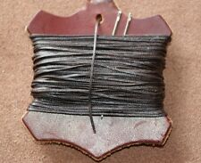 Strong Brown 1mm Thick Leather Sewing Hand Stitching Thread Waxed with 2 Needles