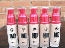 W7 Hight Defintion 12 Hour  Foundation San Beige, Natural , Buff, Tan 30ml