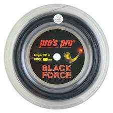 Pro's Pro Black Force - Black Tennis String - 200m  Reel - Free UK P&P