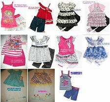 * NWT NEW GIRLS 2PC Nannette TOP & CAPRIS SUMMER OUTFIT SET 2T 3T 4T 4 5 6 6x