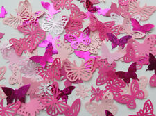 100 Decorative butterflies. PINKS. 3 pack choices. Weddings, card making, Crafts