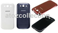 Battery Door Back Cover Case for Samsung Galaxy S3 SIII i9300 + Tempered Glass