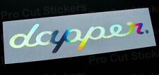Dapper Small to Large Silver Hologram Chrome Car Window Bumper Stickers Decals