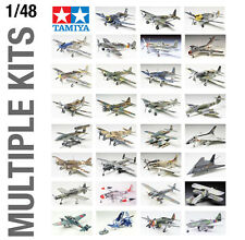 TAMIYA 1/48th BIG AIRCRAFT PLANE PLASTIC MODEL KIT BUILD YOURSELF - ALL SETS!