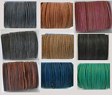 Real Vintage Round Leather Cord 1,1.5,2,3,4,5mm String Lace Thong for Jewellery
