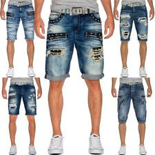 Herren Jeans Shorts Capri Kurze Hose Mens Pants Denim Jogging Jogg Dope Swag wow