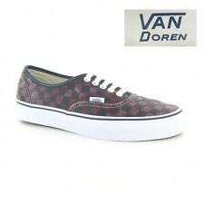Vans Authentic Van Doren VN-0 TSV8X9 Unisex Check Skate Shoes Port Royal & Black