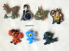 HOW TO TRAIN YOUR DRAGON SHOE CHARMS,CROC,JIBBITZ CHARMS,BRAND NEW,