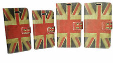 UNION JACK BURNING  FLIP POUCH LEATHER WALLET BOOK CASE FOR APPLE AND SAMSUNG