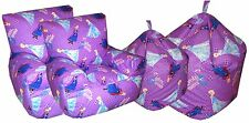 Disney Frozen Kids Lilac/Purple Bean bag Childrens Bean Chair Sisters Forever