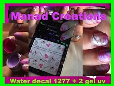 Water Decal Décalco  Déco Stickers Ongle Nail Art G cage oiseau Ecriture gel uv