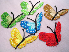 ÉCUSSON patch thermocollant - PAPILLON ** 7 x 5 cm ** coloris au choix