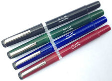 DOLLAR STUDENT FOUNTAIN PEN   -MEDIUM NIB  - BLACK,BLUE, GREEN & BURGUNDY BARREL