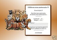 5 ou 12 cartes invitation anniversaire REF 942