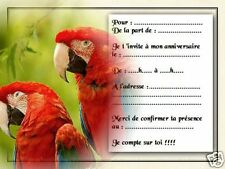 5 ou 12 cartes invitation anniversaire REF 915