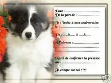 5 ou 12 cartes invitation anniversaire REF 1000