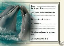 5 ou 12 cartes invitation anniversaire REF 1055
