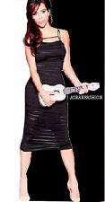 LADIES CELEB INSPIRED KK BURNOUT CAGE STRAP BACK ZIP MESH LACE BODYCON DRESS