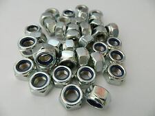 M12 Bright Zinc Plated (BZP) Hex Nyloc/Nylon Insert lock Nuts  Standard Pitch