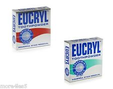 Eucryl Smokers Tooth Smoker's Powder Original or FreshMint 50g clean teeth