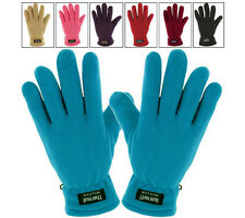 Warme Thinsulate Thermo FLEECE DAMENHANDSCHUHE Finger Handschuhe gefuttert