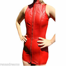 Corsage Kleid Rena Dreams Korsett lang ECHT LEDER genuine leather corset lacing