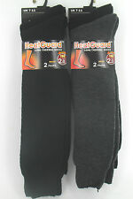 MENS HEATGUARD 2.0 TOG LONG THERMAL BLACK GREY SOCKS SK165 SIZES 7-11 2 PACK