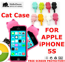CUTE CAT CASE / COVER For IPHONE 5S New - Silicone case - High Quality