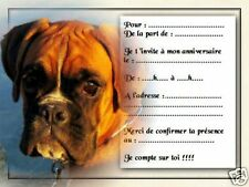 5 ou 12 cartes invitation anniversaire REF 1050