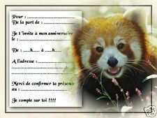 5 ou 12 cartes invitation anniversaire REF 1035