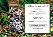 5 ou 12 cartes invitation anniversaire REF 1047